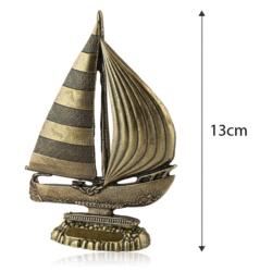 Figurka metalowa żaglówka - 13cm - 383 - FR216