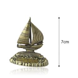 Figurka metalowa żaglówka - 7cm - 385 - FR218