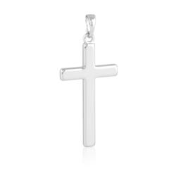 Krzyżyk rodowany - 4cm - PRZ1710