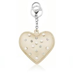 Brelok - serce z perełkami - PU150