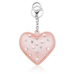 Brelok - serce z perełkami - PU151