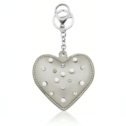 Brelok - serce z perełkami - PU152