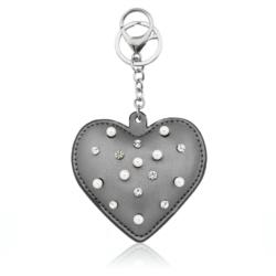 Brelok - serce z perełkami - PU153