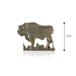 Figurka metalowa - Żubr - 10szt - FR242
