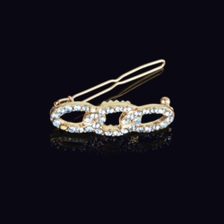 Ślubna kryształowa spinka do włosów 4,5cm - OS205