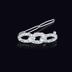 Ślubna kryształowa spinka do włosów 4,5cm - OS206