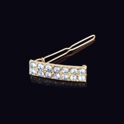 Ślubna kryształowa spinka do włosów 4,2cm - OS211
