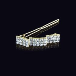 Ślubna kryształowa spinka do włosów 5cm - OS213