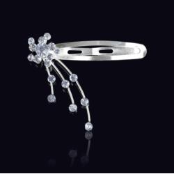 Ślubna kryształowa spinka do włosów 5,5cm - OS214