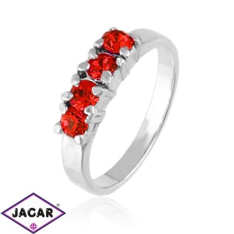 Pierścionek - Czerwone kryształy - PIER92