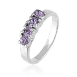 Pierścionek - Wrzosowe kryształy - PIER93