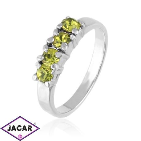 Pierścionek - Żółte kryształy - PIER94