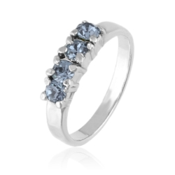 Pierścionek - Błękitne Kryształy - PIER96