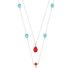 Celebrytka rodowana z kryształami Xuping CP1470
