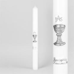 Świeca - Pamiątka Komunii Św. - dł:40cm - SG75