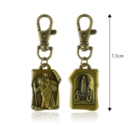 Brelok metalowy - Św. Krzysztof - BM179