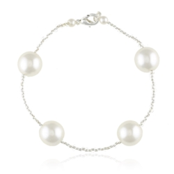 Bransoletka z perłami i kryształami - BRA842