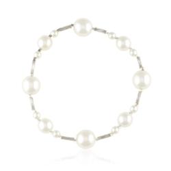Bransoletka z perłami i kryształami - BRA843