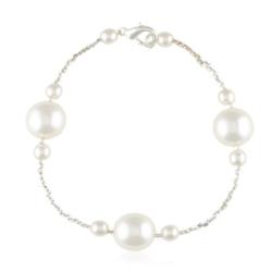 Bransoletka z perłami i kryształami - BRA844