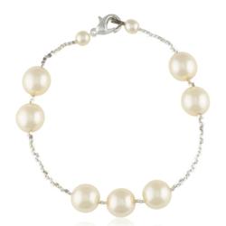 Bransoletka z perłami i kryształami - BRA845