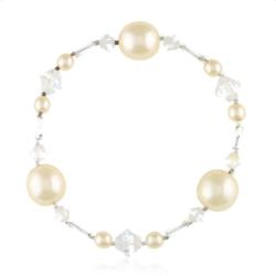 Bransoletka z perłami i kryształami - BRA846
