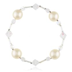 Bransoletka z perłami i kryształami - BRA847