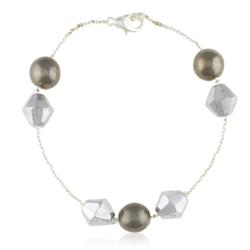 Bransoletka z perłami i kryształami - BRA849