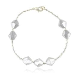 Bransoletka z perłami i kryształami - BRA852