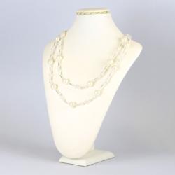 Naszyjnik perła czeska biała - NA1219