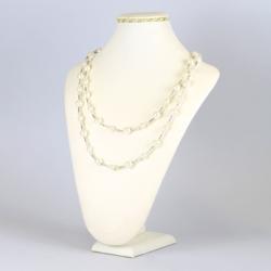 Naszyjnik perła czeska biała - NA1220