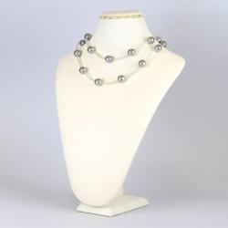 Naszyjnik perła czeska szara - NA1226