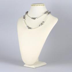 Naszyjnik perła czeska szara - NA1229