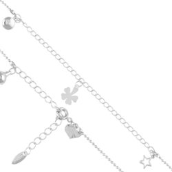 Bransoletka rodowana na kostkę - Xuping -BP3404 36