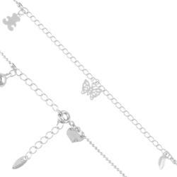 Bransoletka rodowana na kostkę - Xuping -BP3405 36