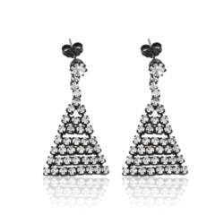 Kolczyki czeskie z kryształami - 4cm - EA1209