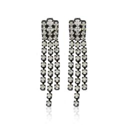 Kolczyki czeskie z kryształami - 6cm - EA1213