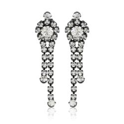 Kolczyki czeskie z kryształami - 6cm - EA1218