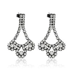 Kolczyki czeskie z kryształami - 4cm - EA1223