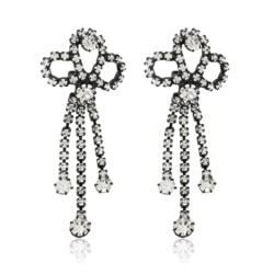 Kolczyki czeskie z kryształami - 5cm - EA1224