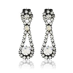 Kolczyki czeskie z kryształami - 4cm - EA1225