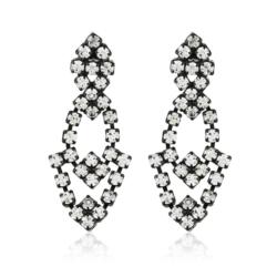 Kolczyki czeskie z kryształami - 4,5cm - EA1227