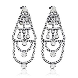 Kolczyki czeskie z kryształami - 8cm - EA1234