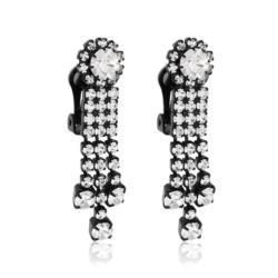 Klipsy czeskie z kryształami - 4cm - EA1240