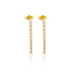 Kolczyki czeskie z kryształami - 2,5cm - EA1276