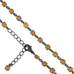 Bransoletka czeska z kryształami - BRA907