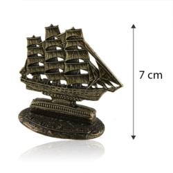 Figurka metalowa- Pamiątka z mazur żaglowiec FR253