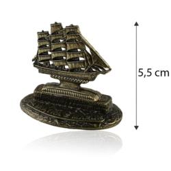 Figurka metalowa- Pamiątka z mazur żaglowiec FR254