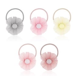 Gumki do włosów kwiatuszki - 20szt - OG268