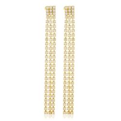Kolczyki czeskie kryształy 7,5cm EA1964 53/115