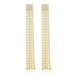 Kolczyki czeskie kryształy 7,5cm EA1965 53/118
